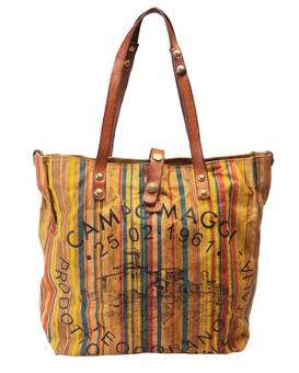 Tasche SHOPP. MANICO L. Striped | CAMPOMAGGI