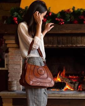 Tasche MONOSP. MULTI INF. cognac | CAMPOMAGGI